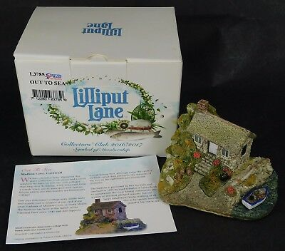 Lilliput Lane OUT TO SEA in Box w/ Deed Collectors Club 2016/17 L3785