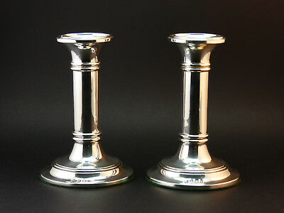 c1905, MARTIN, HALL & Co. GOOD PAIR ANTIQUE EDWARDIAN SOLID SILVER CANDLESTICKS