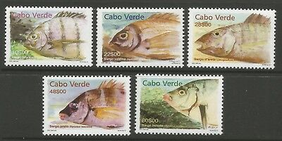 STAMPS-CAPE VERDE. 2001. Fishes Set. SG: 853/57. Mint Never Hinged.