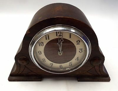 Vintage ENFIELD Wooden Case MANTLE CLOCK For Spares And Repairs - H09