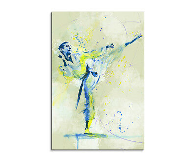 Karate IV 90x60cm SPORTBILDER Paul Sinus Art Splash Art Wandbild Aquarell Art