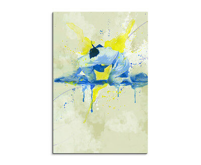 Judo 90x60cm SPORTBILDER Paul Sinus Art Splash Art Wandbild Aquarell Art