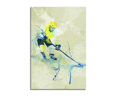Eishockey 90x60cm SPORTBILDER Paul Sinus Art Splash Art Wandbild Aquarell Art