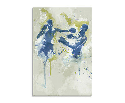 Boxen II 90x60cm SPORTBILDER Paul Sinus Art Splash Art Wandbild Aquarell Art