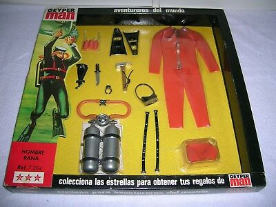 Vintage Geyperman Action Joe Frogman Set