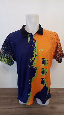 jersey/shirt tennis NIKE CHALLENGE COURT ANDRE AGASSI vintage 80s L VERY NICE