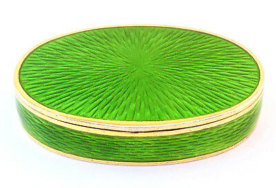 c1893, DAVID ANDERSEN, ANTIQUE SILVER GILT & GUILLOCHE ENAMEL PILL / SNUFF BOX