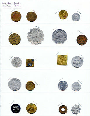 20 Pack Different Iowa Towns Good For Tokens Anamosa Hawarden Van Horne Washta