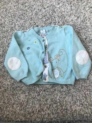 Next Green Have A Mice Day Range Cardigan Cardi Spring Summer 6-9 Months