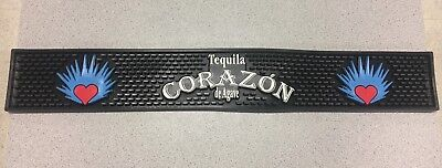 "Tequila Corazon de agave Rubber Spill Mat Drip Bar Tray 23"" x 3 1/2""  FREE Ship"