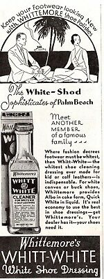 1932 Magazine Ad Whittmores Shoe Dressing Advertisment  A204