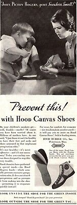 1932 Magazine Ad Hood Canvas Shoes Advertisment  A205