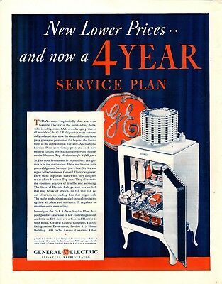 1932 Magazine Ad Ge Refrigerator Advertisment  A206