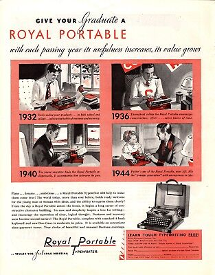 1932 Magazine Ad Royal Portable Typewriter Advertisment  A207