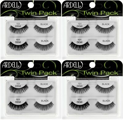 923a80bb2b1 (4) Ardell Twin Pack Lashes 101 Demi Black Faux Lashes False Eyelashes