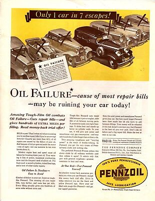 1932 Magazine Ad Pennzoil Advertisment  A207