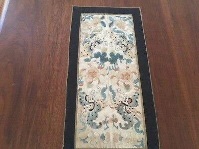 Antique sleeve bands embroidery - pieced together - mythical creatures
