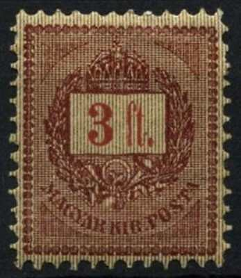 Hungary 1888-98 SG#38i 3fo Purple & Gold MH Stereotype #D73026