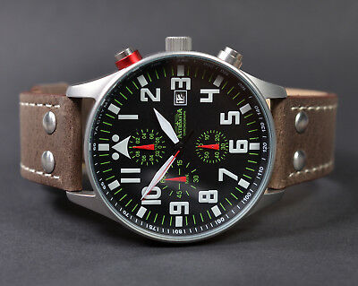 ASTROAVIA XL AIR CRAFT 22L NEW EDITION 6 ZEIGER CHRONOGRAPH 44mm FLIEGERUHR 22.2