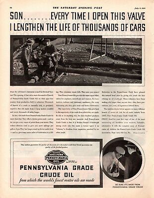 1931 Magazine Ad Pennsylvania Grade Crude Oil  Advertisment  A212