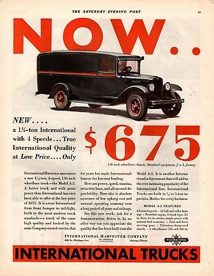 1931 Magazine Ad International Trucks  Advertisment  A213