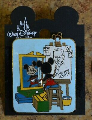 WDW Disney Mickey Self Portrait Norman Rockwell Painting Trading Pin New on Card