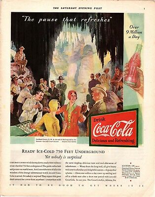 1931 Saturday Evening Post Magazine Coca-Cola Advertisement  A218