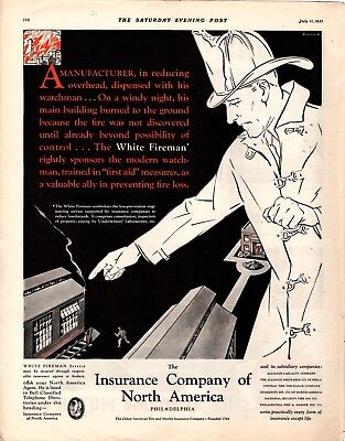 1931  Magazine Ad Insurance Company Of North America Advertisment  A219