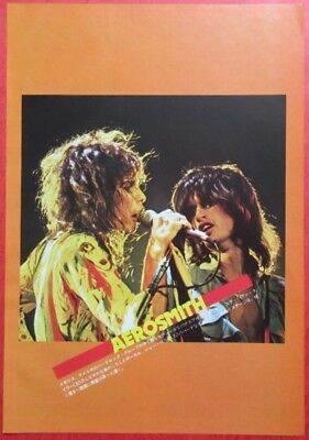 Aerosmith Steven Tyler Bachman Turner Overdrive 1977 Clipping Japan H9 P14