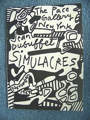 Vintage Pace Gallery Simulacres  -   November 1969   - Jean Dubuffet  -  CATALOG