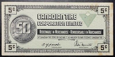CTC S3-B Vintage 1972 Canadian Tire 5 Cents Note - Free Combined S/H