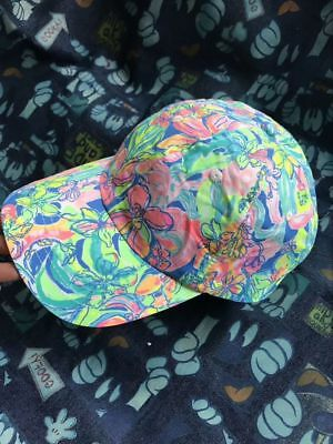 New Lilly Pulitzer Beach Hat Multicolor Run Around hat Baseball Hat
