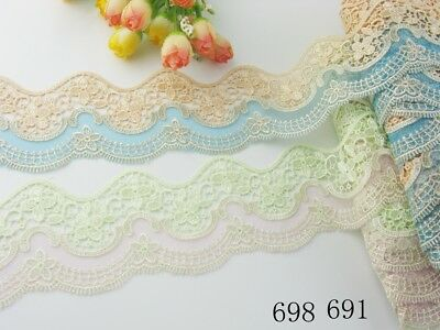 "2 1/4""*1yard delicate embroidered flower Venise  lace trim DIY 691/698"