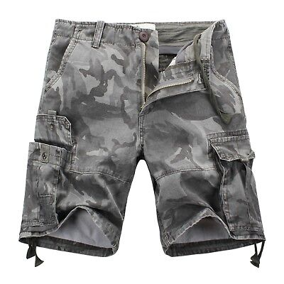 FOX JEANS Men's Elton Casual Military Camo Cargo Work Shorts SIZE 32-44