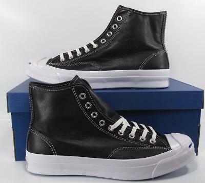ee4c212682a224 Converse Jack Purcell JP Signature Series Hi High Top Leather Black 153586C