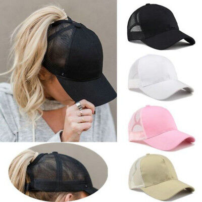 2018 Ponytail Baseball Cap Women Messy Bun Baseball Hat Snapback Sun Sport Caps