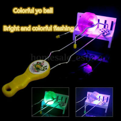 Light Up Colorful Gyro Wheel Magnetic Rail Twister Science Toy For Kids children