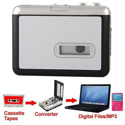 Tape to PC USB Cassette-to-MP3 Converter Capture Adapter Audio Music Player Kit