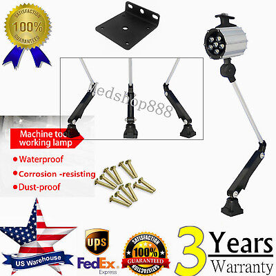 Adjustable Machine Work Lamp LED 24V 8W Waterproof CNC Worklight With 45,000 Hrs