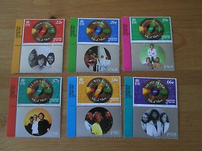 Isle Of Man Bee Gees Mint Stamp Set