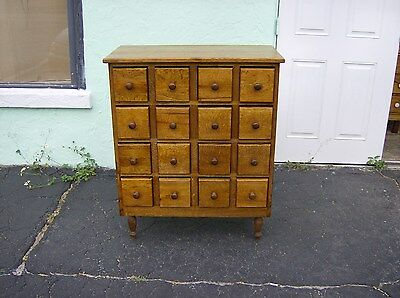 Apothecary Cabinet/Chest Tiger Oaks by Dixie 16 drawer