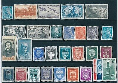 Timbres De France Annee Complete 1942 Neuf Luxe **