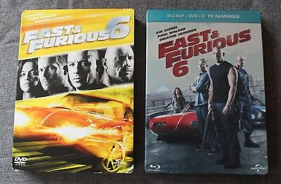 Fast & Furious 6 - Vin Diesel paul Walker, Steelbook blu ray + DVD