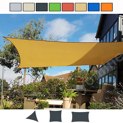 Outdoor Shade Sail Patio Suncreen Awning Garden Sun Canopy 98% UV Block New