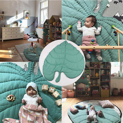 Baby Kids Heart Leaves Crawling Mat Playmat Blanket Floor Creeping Play Game Pad