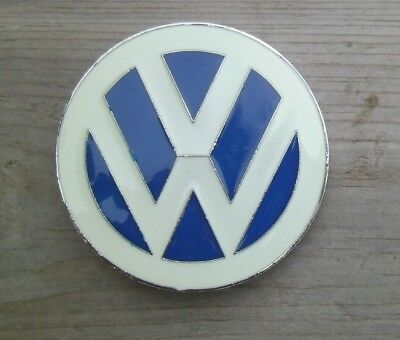 VW Volkswagen Belt Buckle Silver With Enamel Inlay NEW