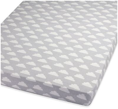 Snuz COT & COT BED FITTED SHEET – CLOUD NINE Nursery Cot Bedding BN
