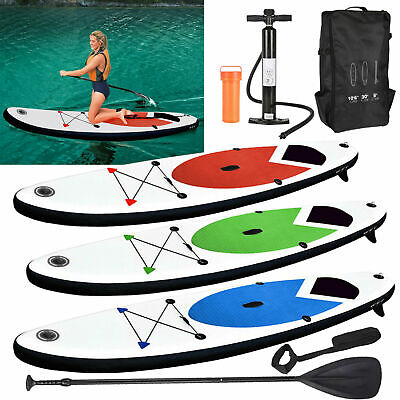 GEEZY Inflatable 305cm SUP Stand Up Paddle Board with Ankle Strap Pump Carry Bag