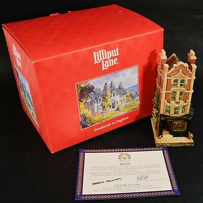 Lilliput Lane THE JEWELLER The Victoria Shops Collection in Box  With Deeds