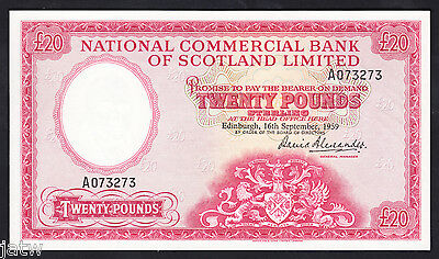 SCOTLAND P-267. 1959 National Commercial Bank - 20 Pounds..  gEF